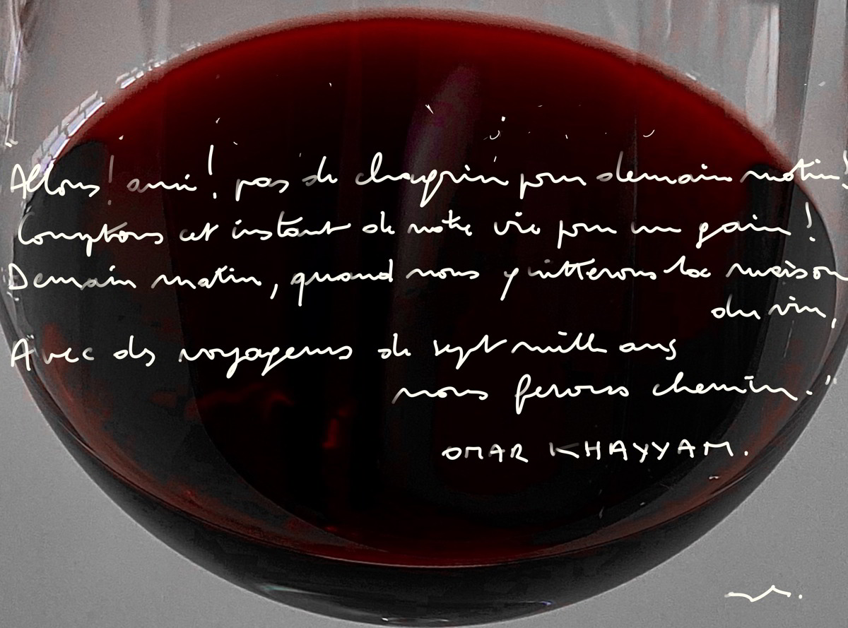 Par amour du vin hommage omar hhayam